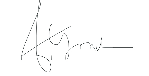 Asia Gordon's Signature