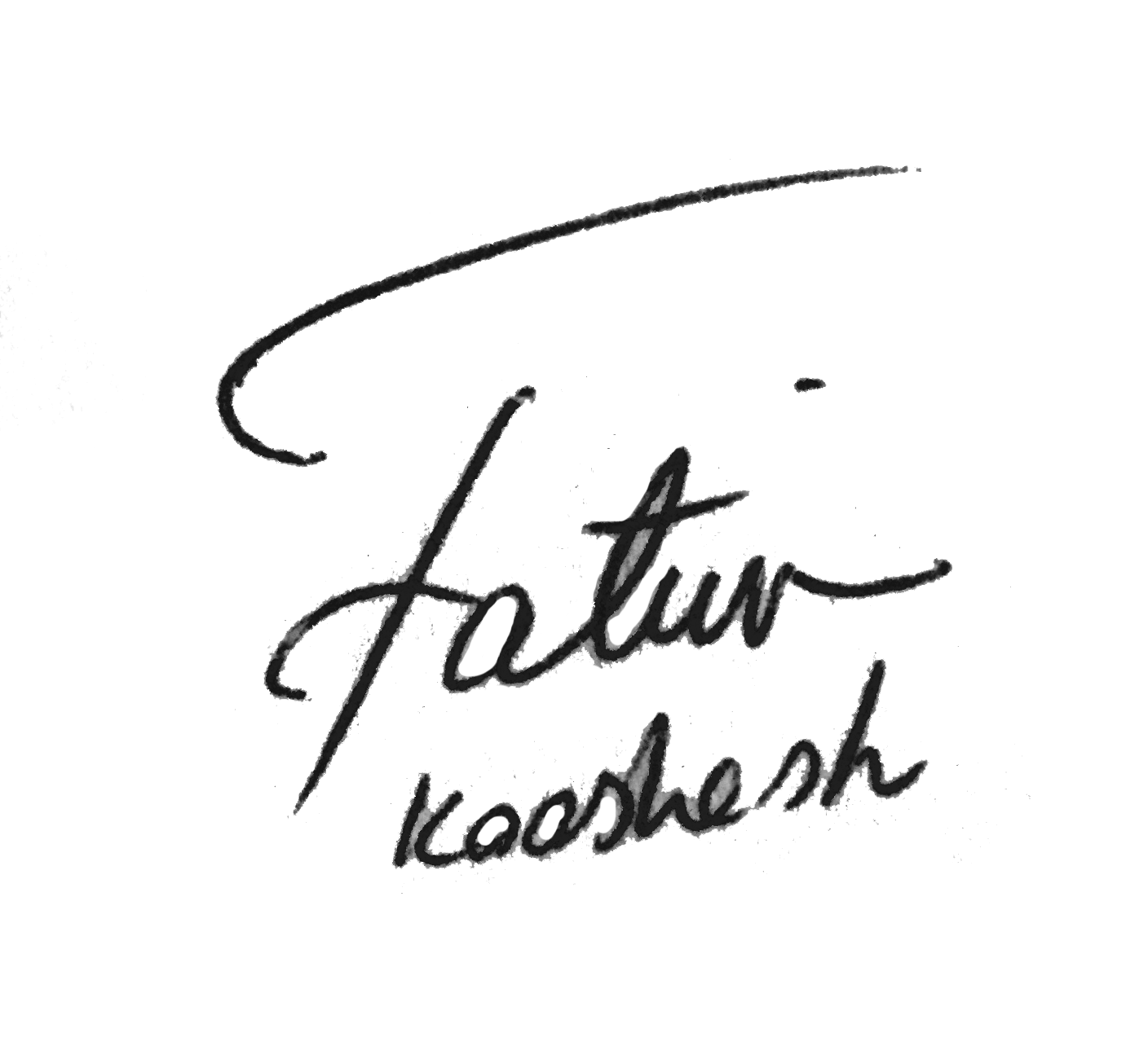 Fatima Kooshesh's Signature