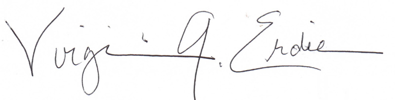 Virginia Erdie's Signature