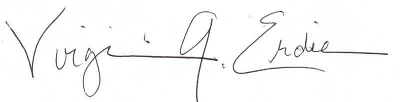 Virginia Erdie's Signature
