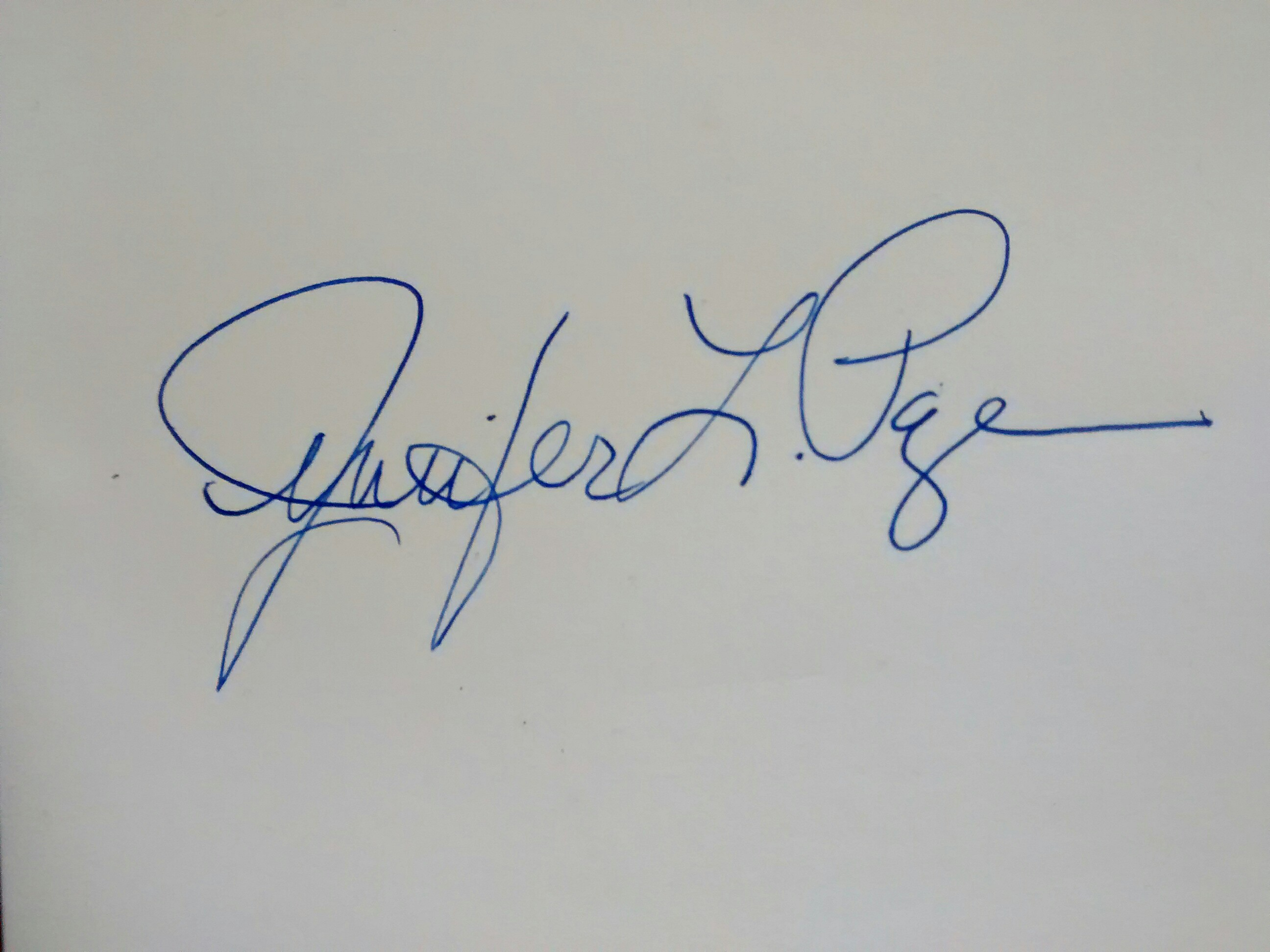 jennifer page's Signature