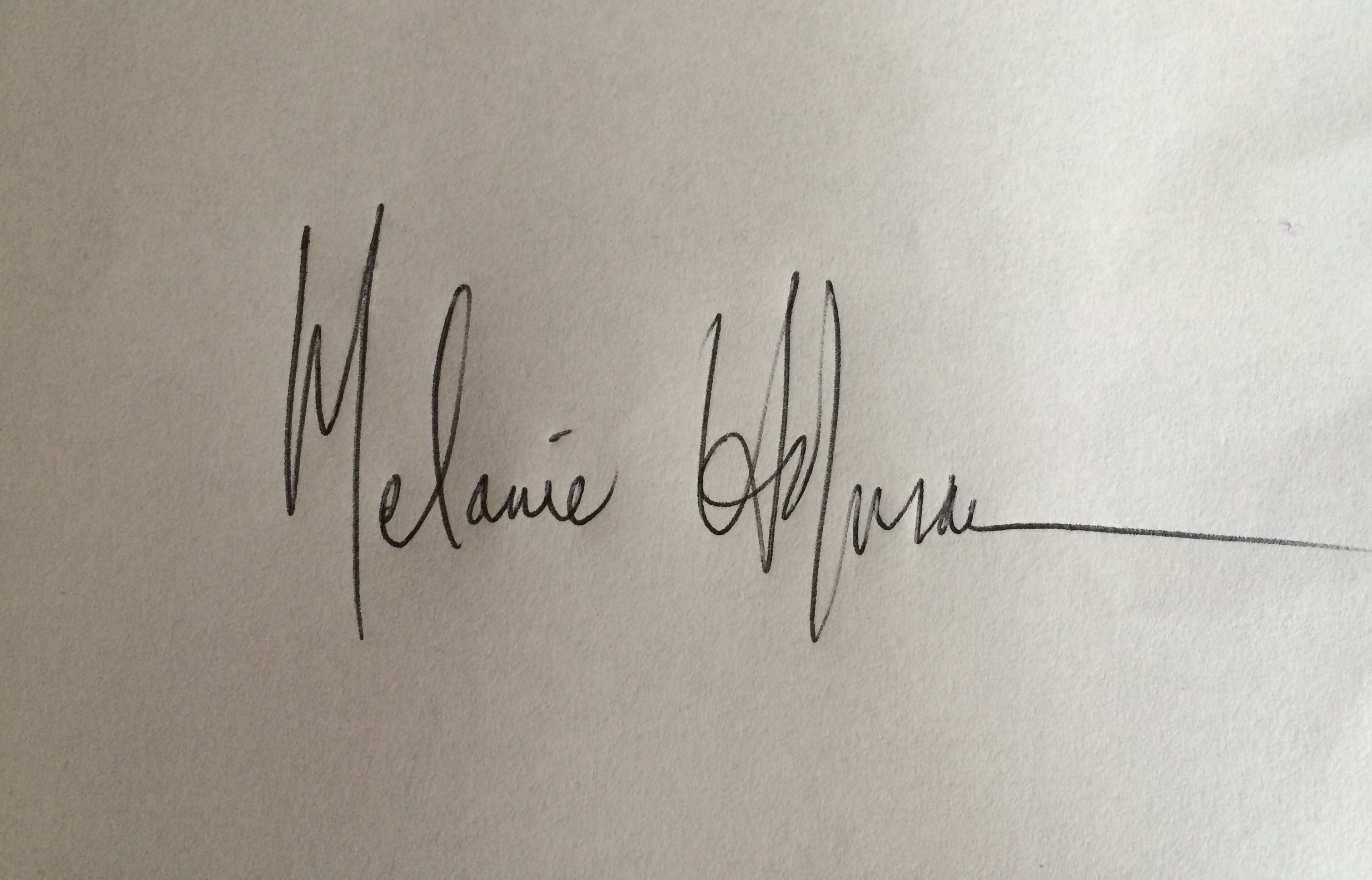 Melanie Hofmann's Signature