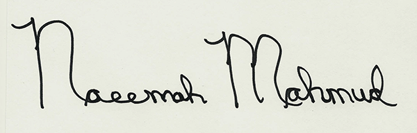 Naeemah Mahmud's Signature