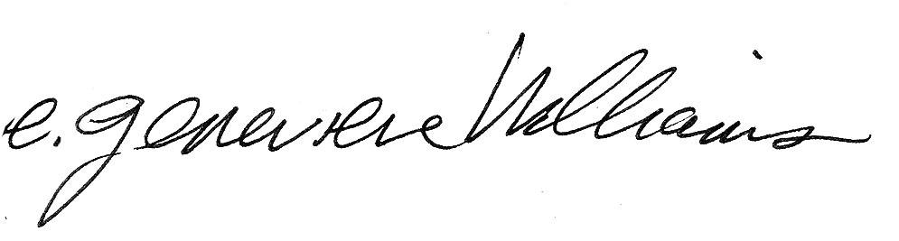 E genevieve's Signature