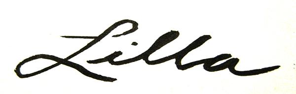 Lilla Dent's Signature