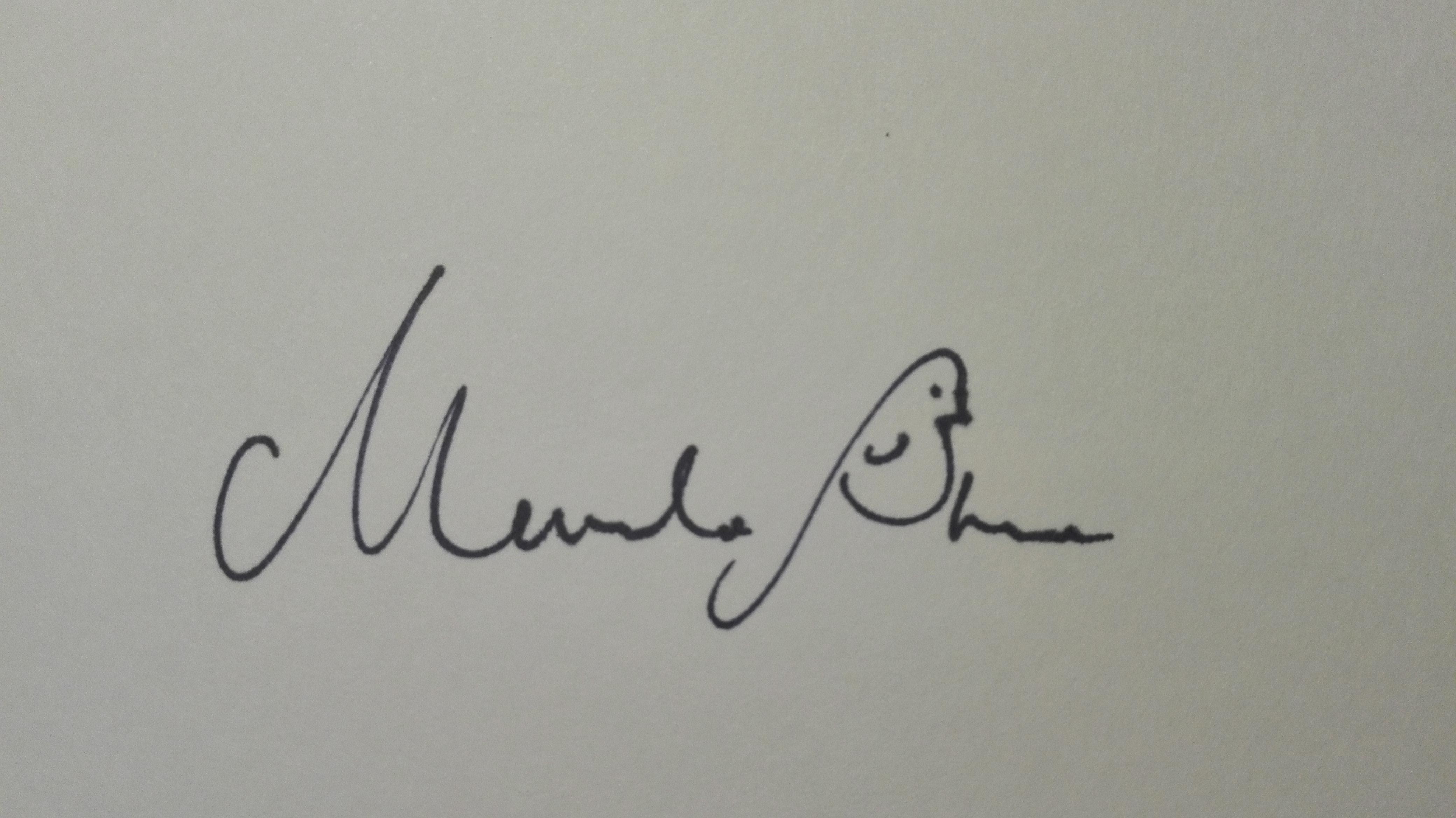 Merula Stout's Signature