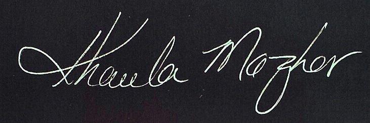 Khaula Mazhar's Signature
