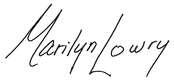 Marilyn Lowry's Signature