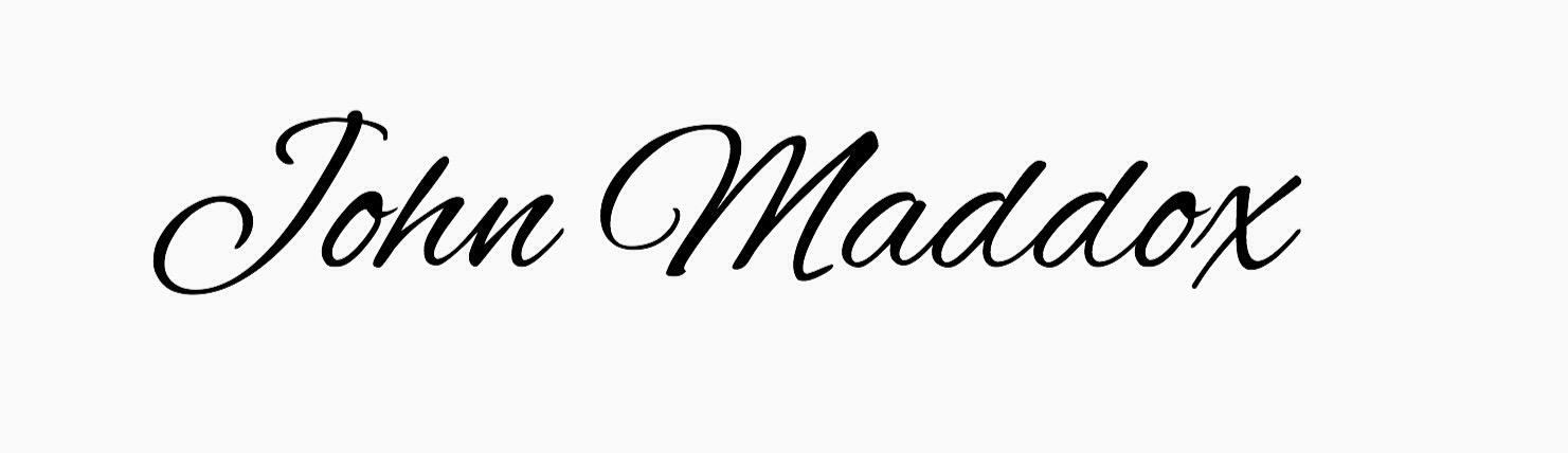John Maddox's Signature