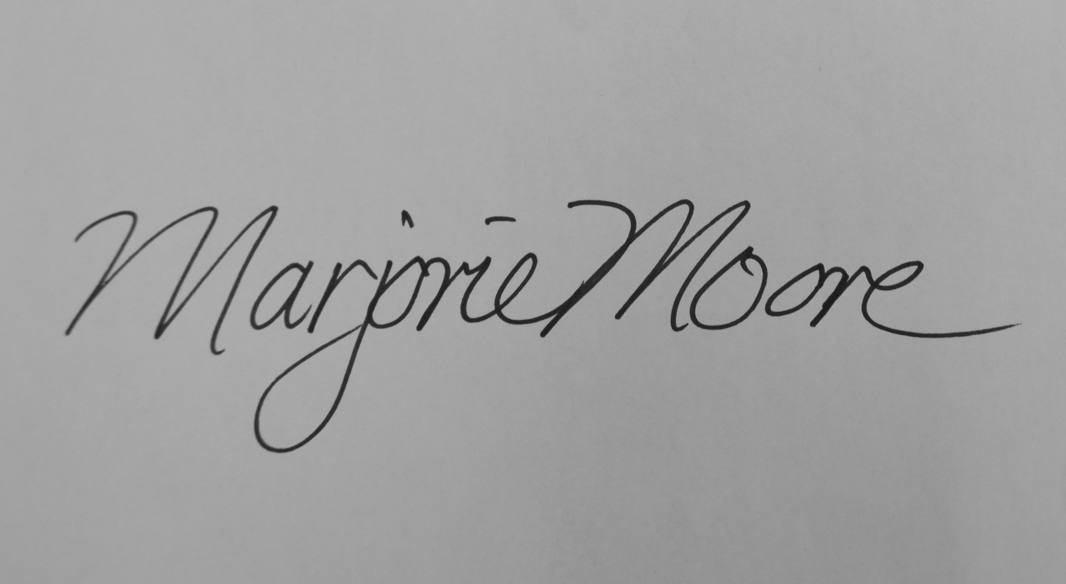 Marjorie Moore's Signature