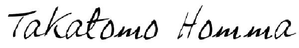 Takatomo Homma's Signature