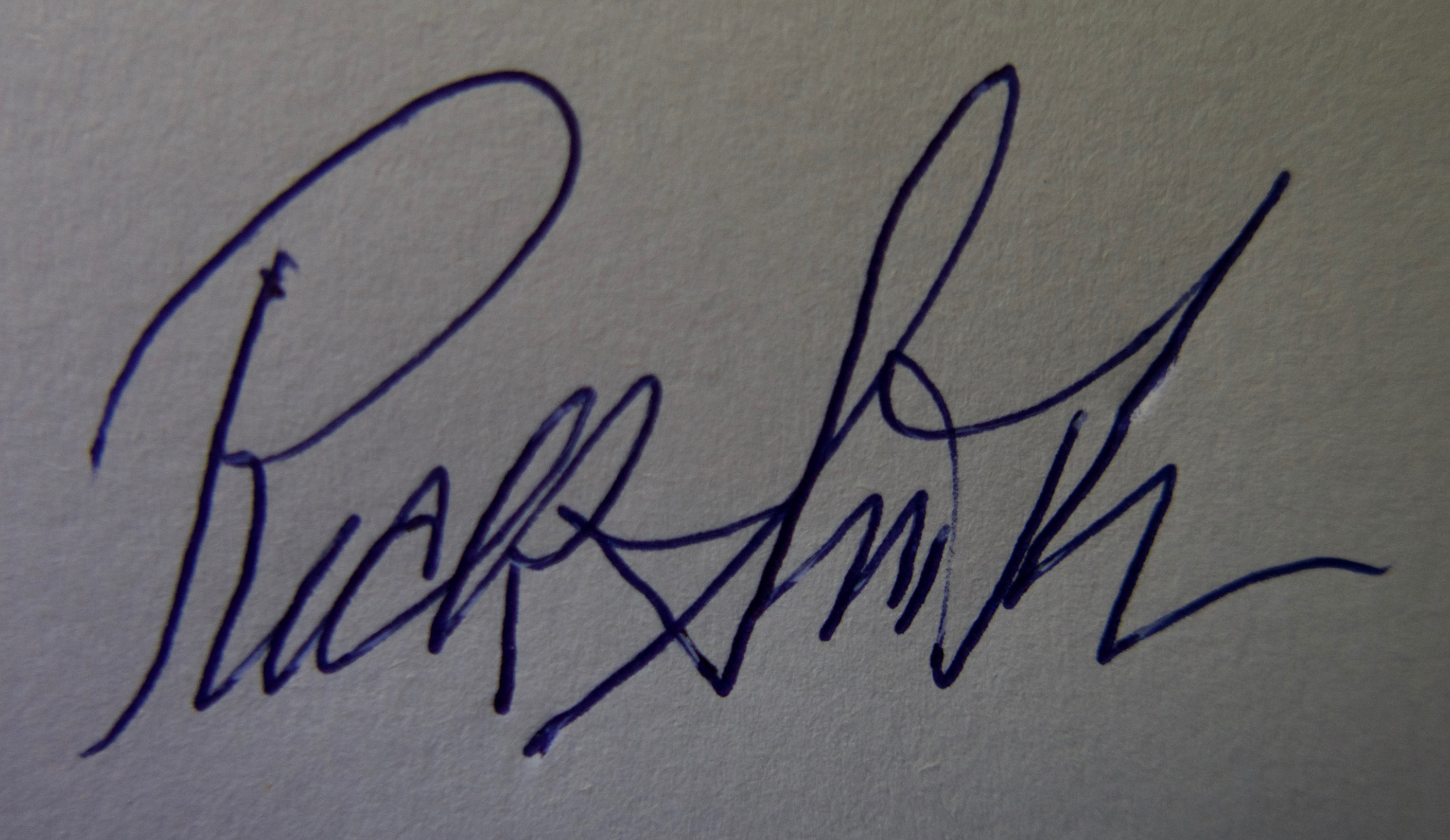 Rick Smith's Signature