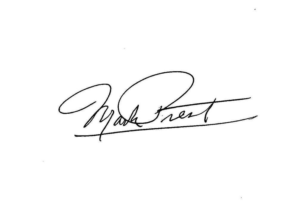 Mark Prest's Signature