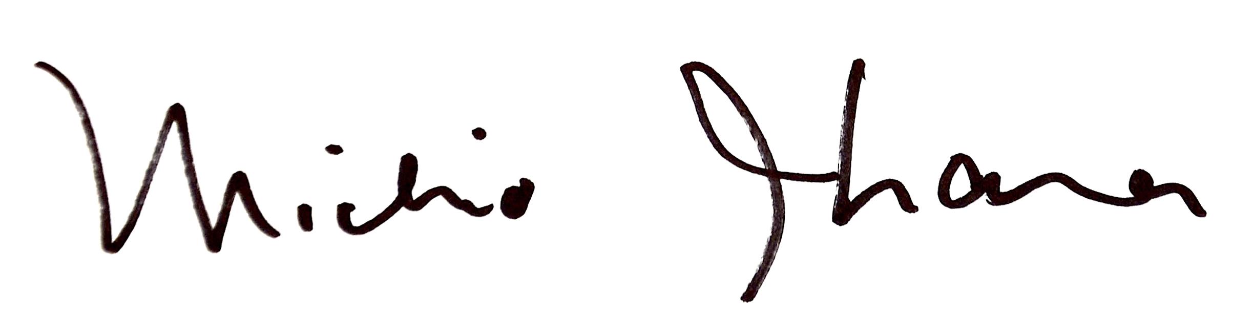 Michio Ihara's Signature