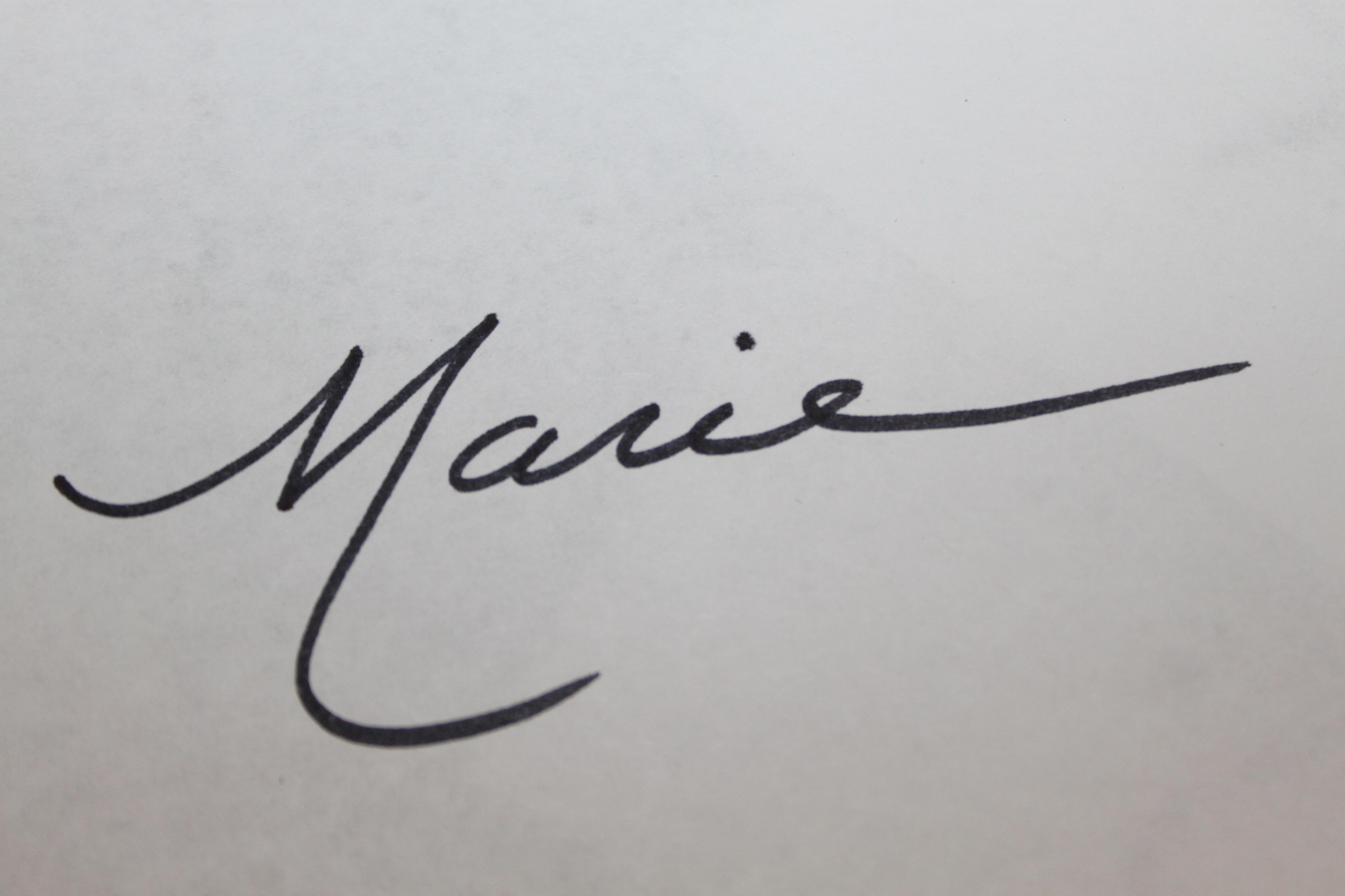 Marie Turowski's Signature