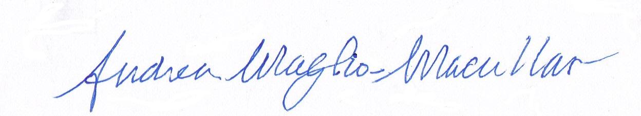 Andrea Maglio-Macullar's Signature