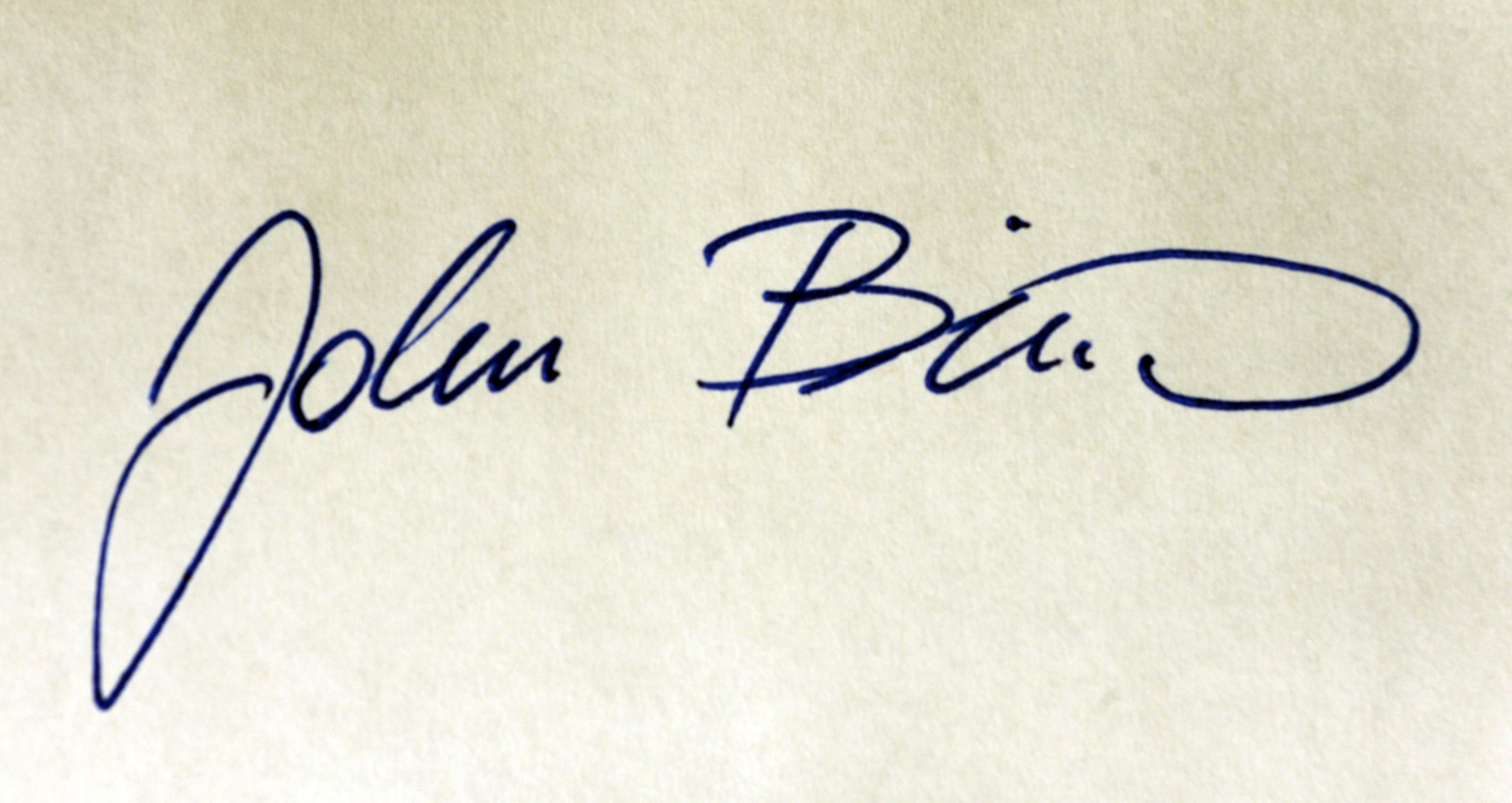 John Biro's Signature