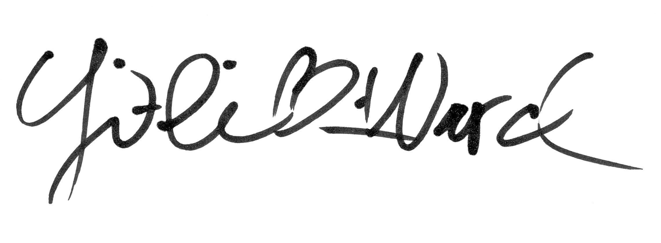 Yi-li Chin Ward's Signature
