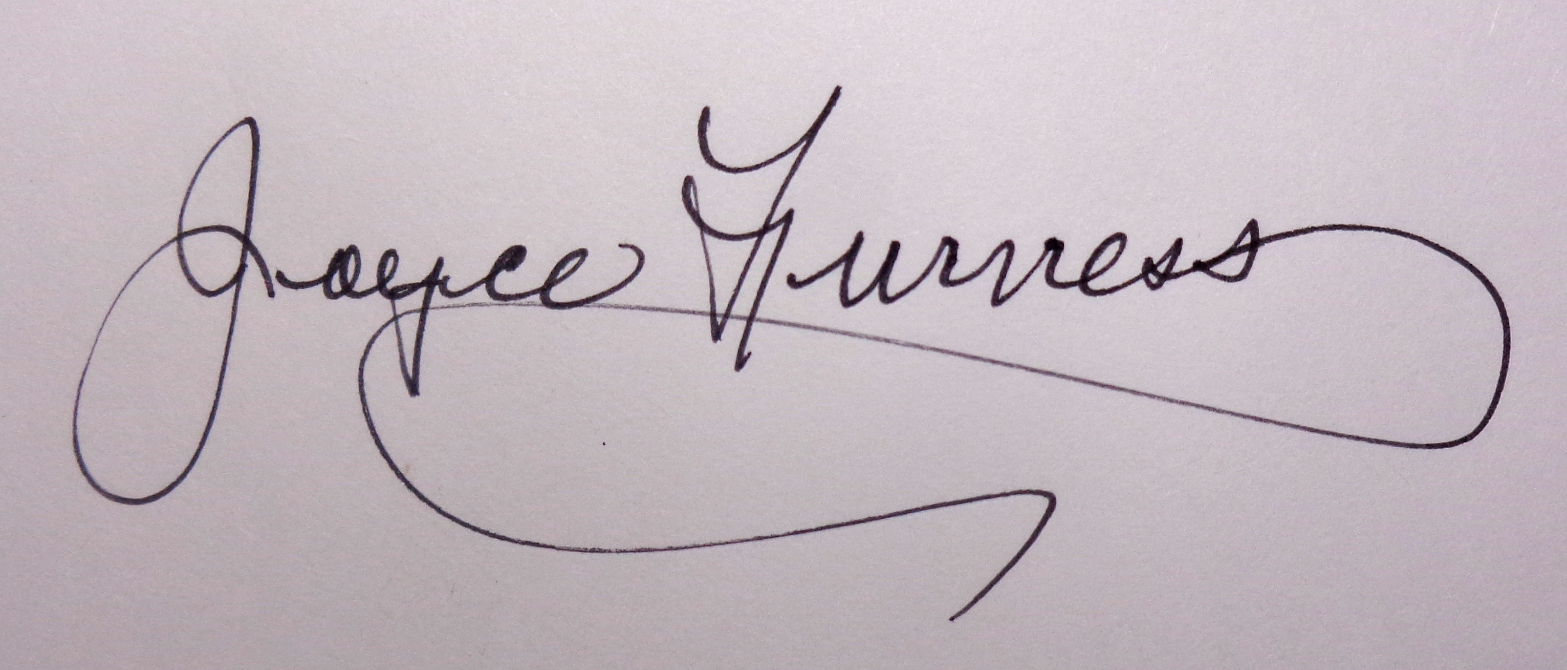 Joyce Furness's Signature