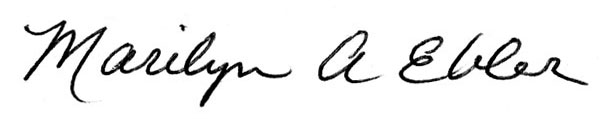 Marilyn Ebler's Signature