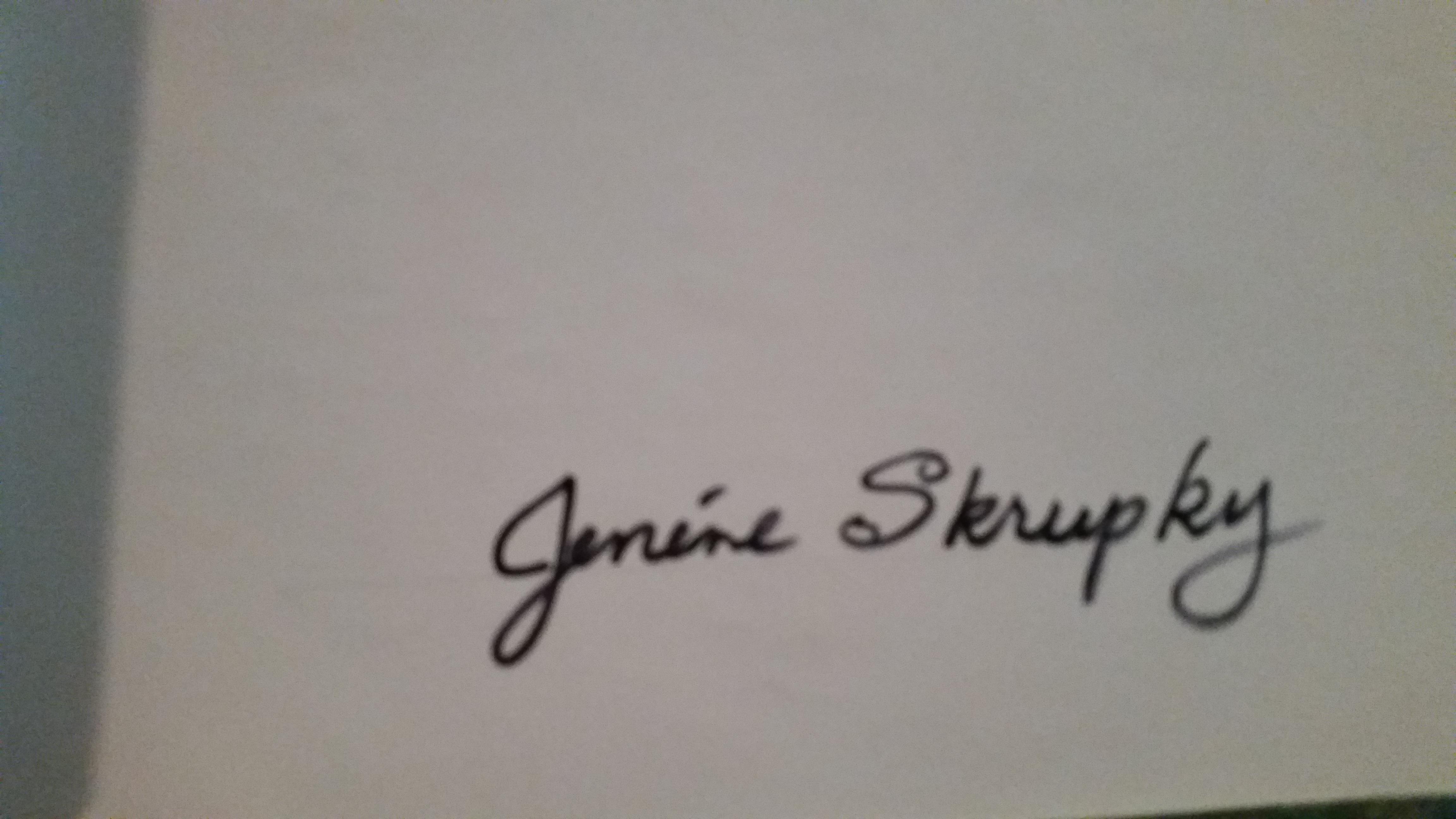 Jenene Skrupky's Signature