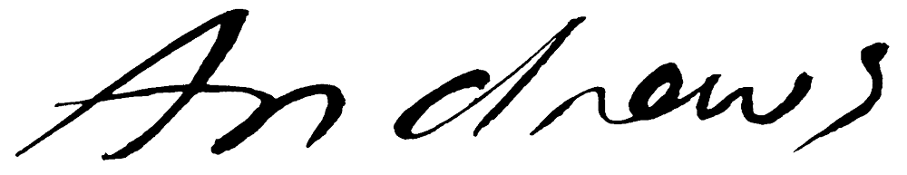 Annabel Andrews's Signature