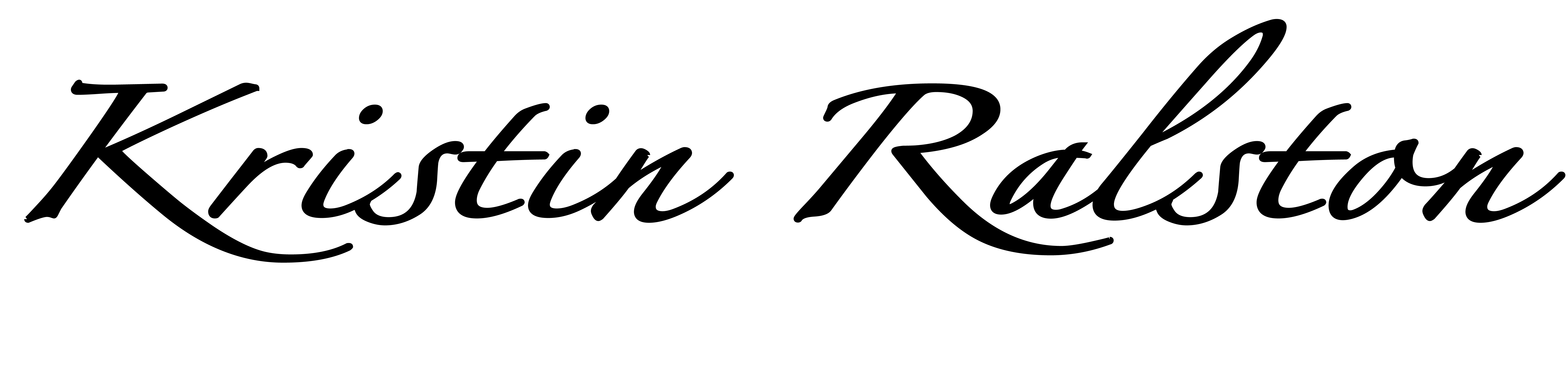kristin ralston's Signature
