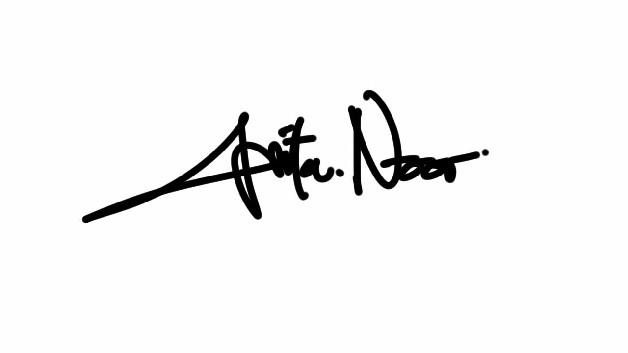 Anita Noor Aprilia's Signature