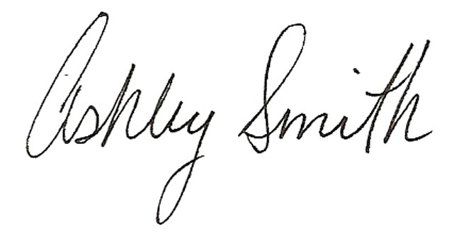 Ashley Smith's Signature