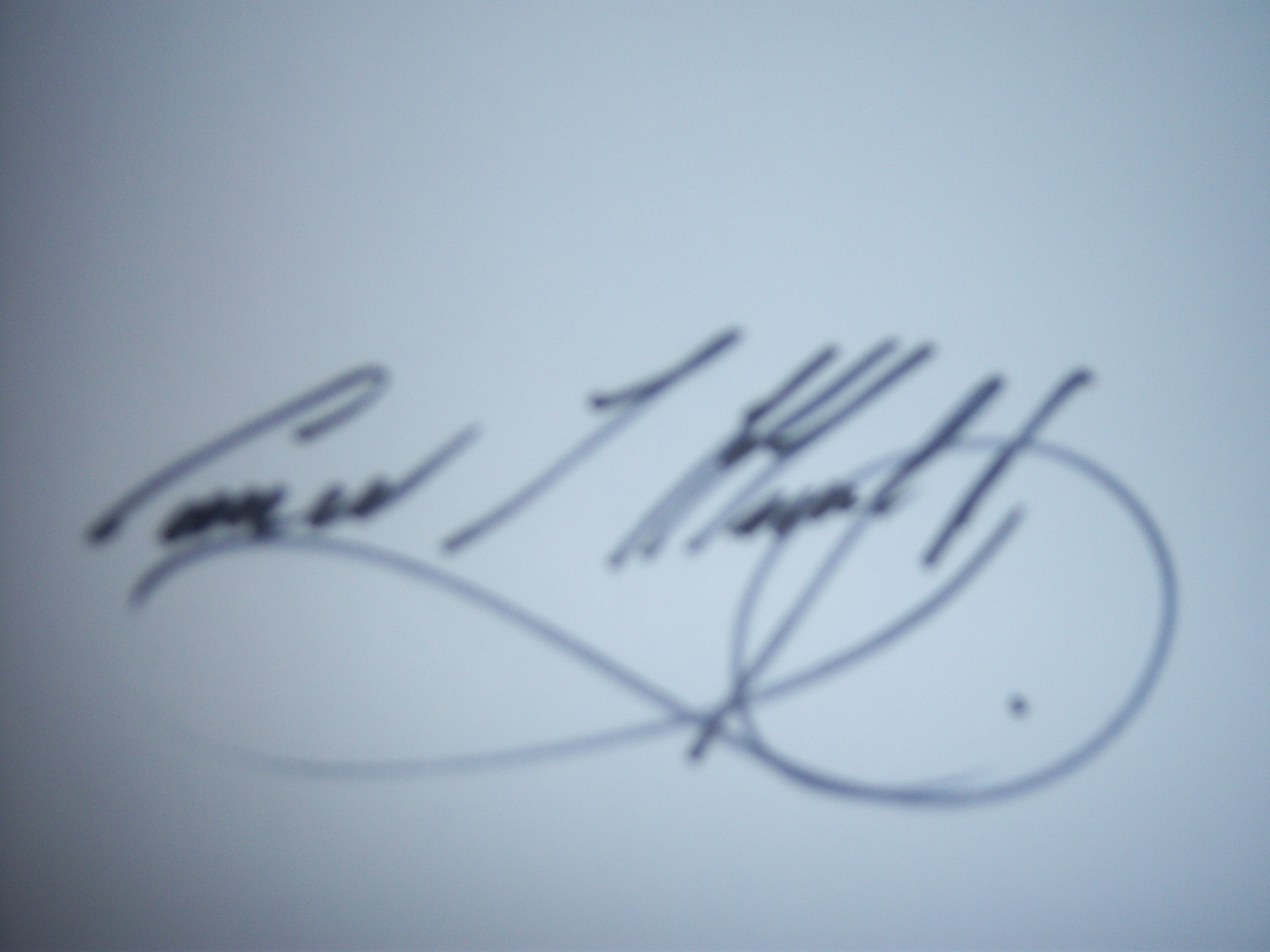 Conor Murphy's Signature