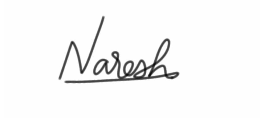 Naresh Namanandi's Signature