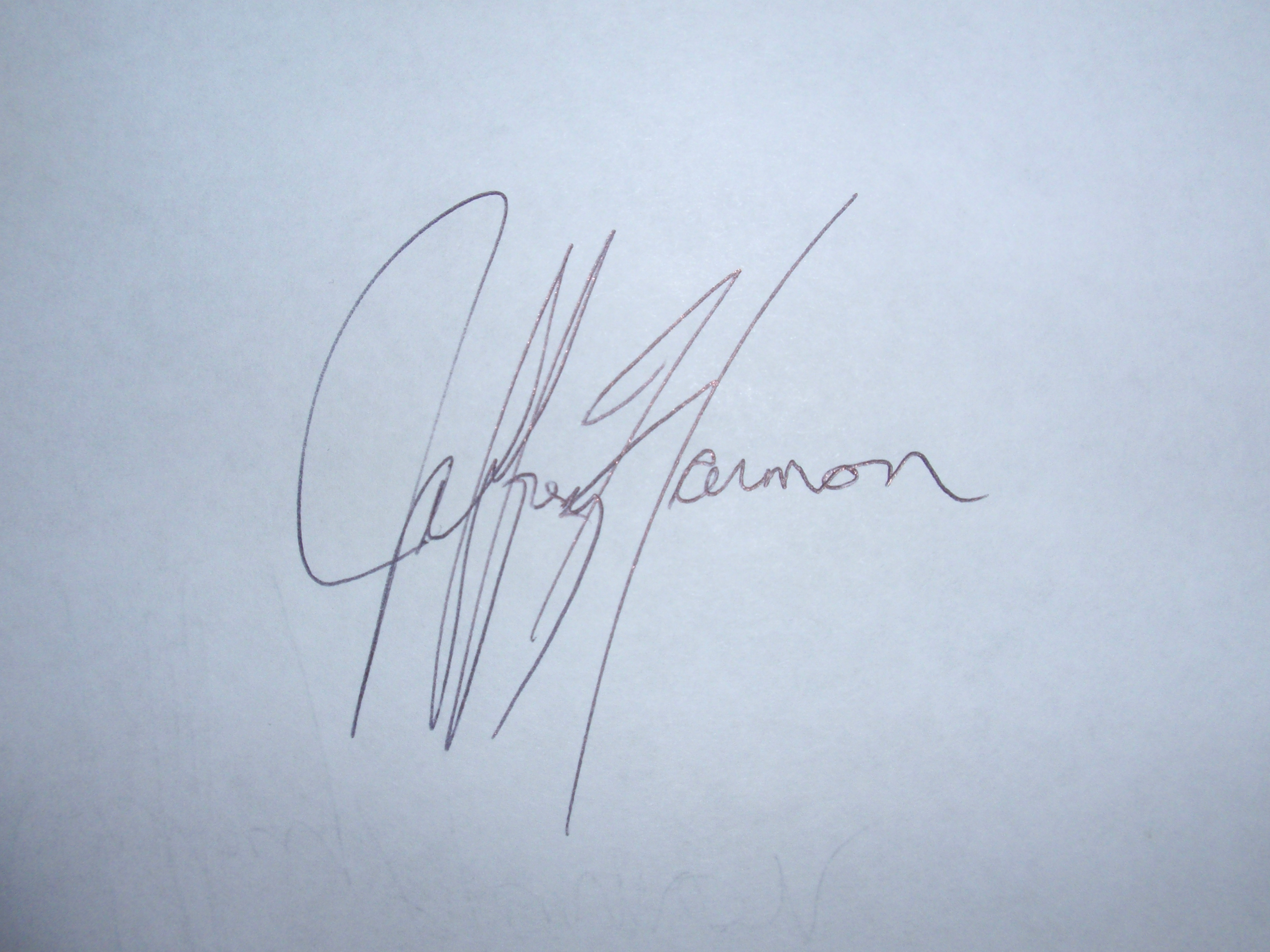 Jeffrey Harmon's Signature
