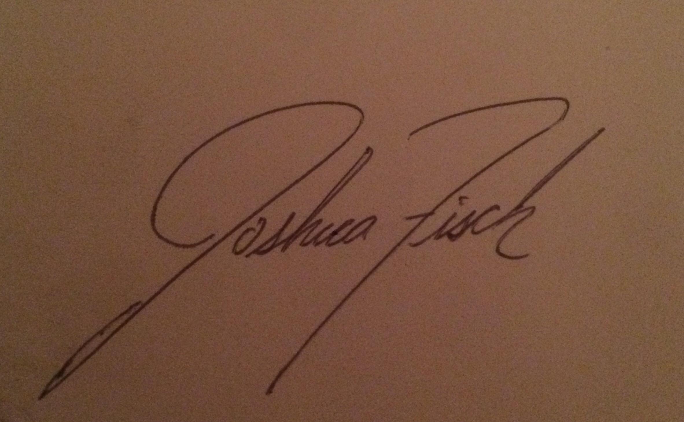 JOshua Fisch's Signature
