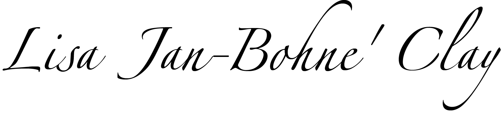 Lisa Jan-Bohne' Clay's Signature