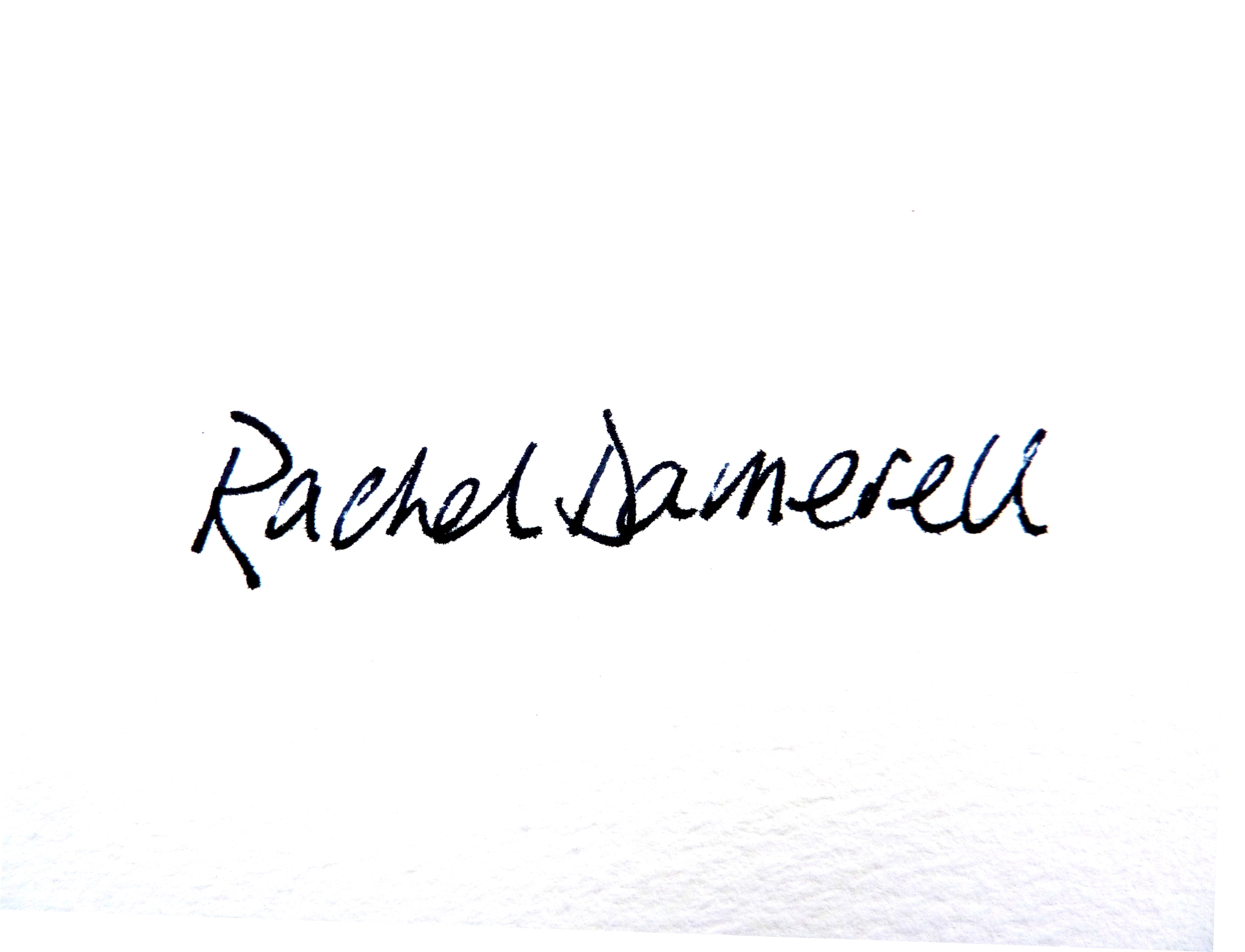 Rachel Damerell's Signature