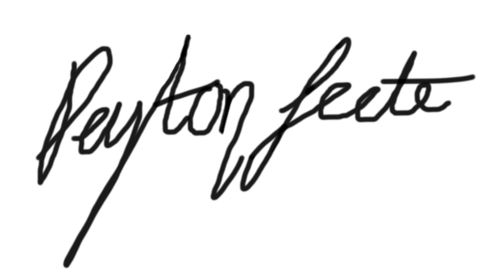 Peyton Leete's Signature