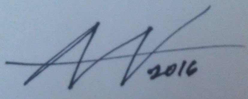Amy Woolston's Signature
