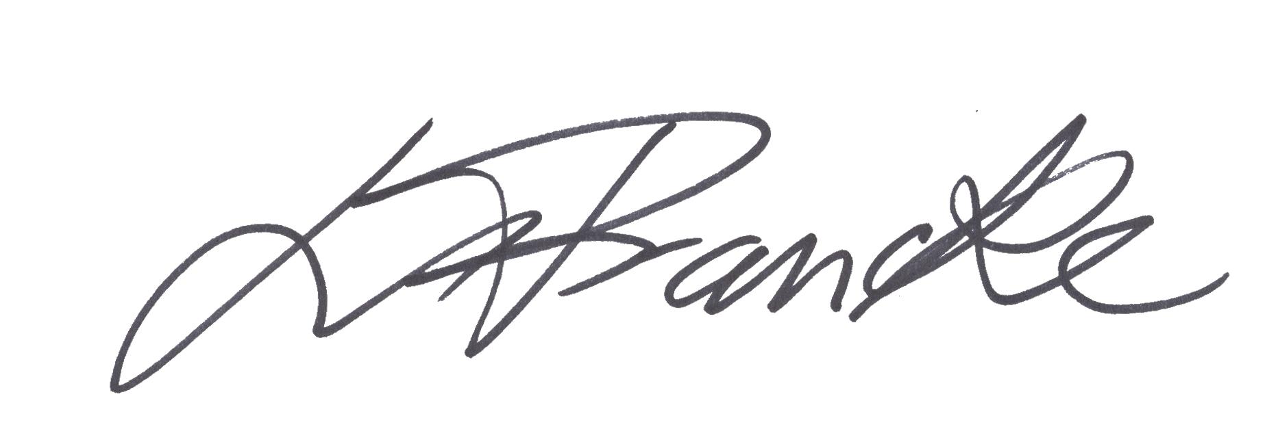 Louise Francke's Signature