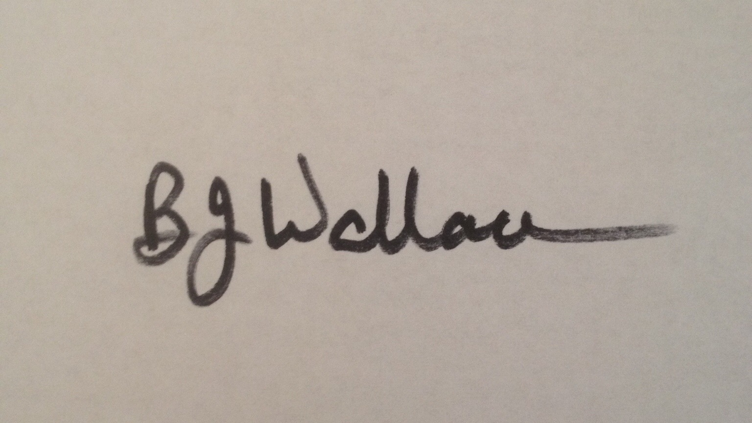 Barbara Wallace's Signature