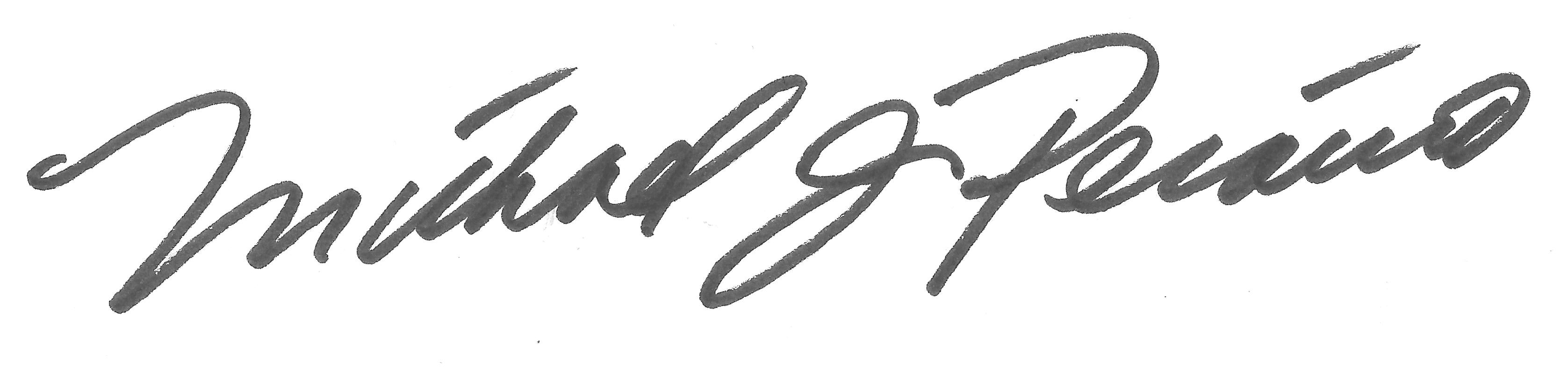 Michael Peraino's Signature