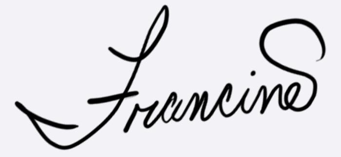 Francine Dufour  Jones's Signature