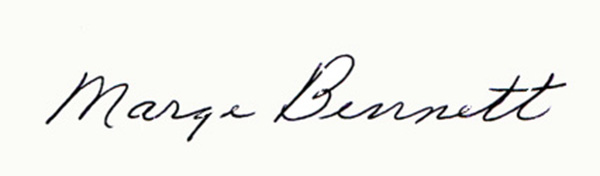 Marge Bennett's Signature