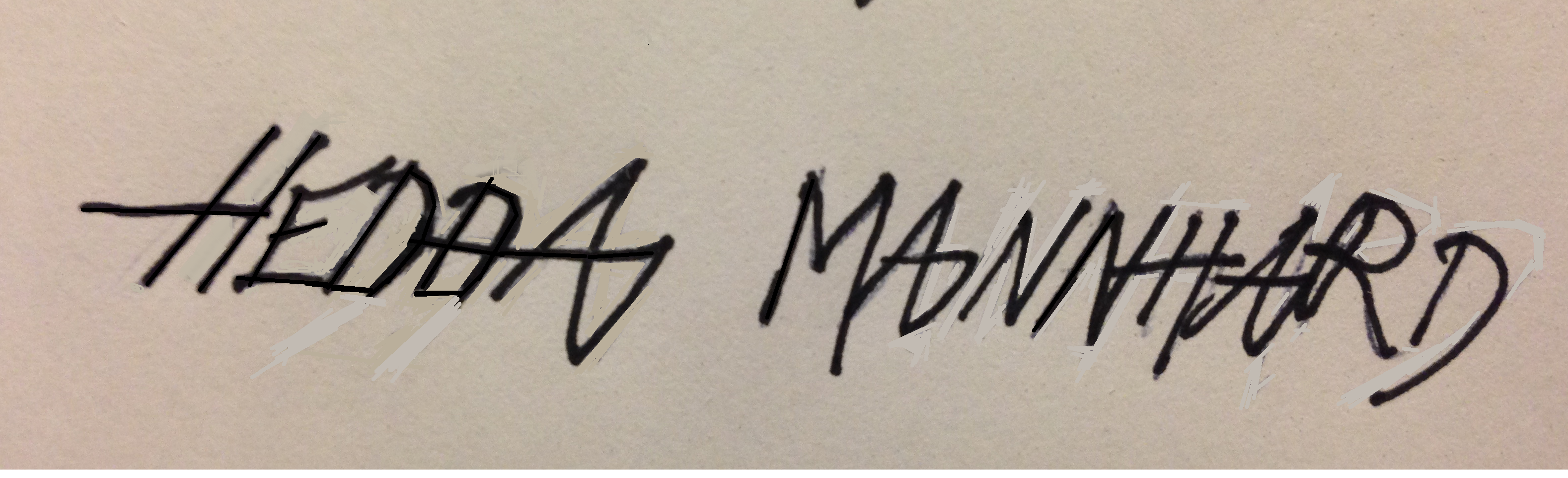 Hedda Mannhard's Signature