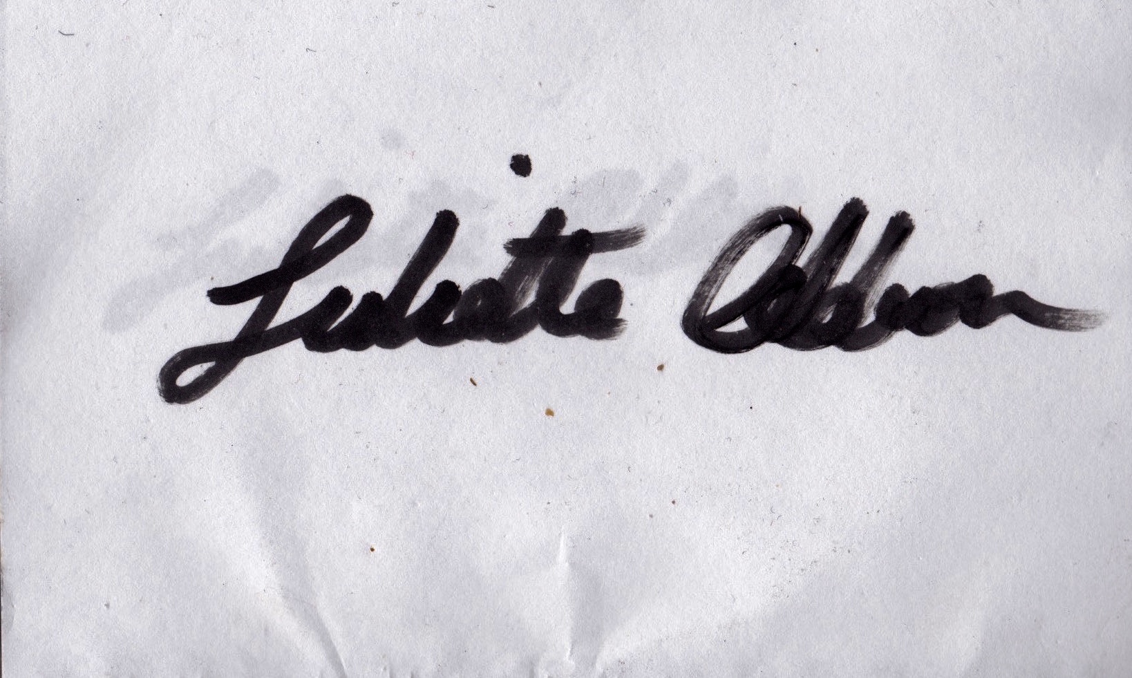 juliette addison's Signature