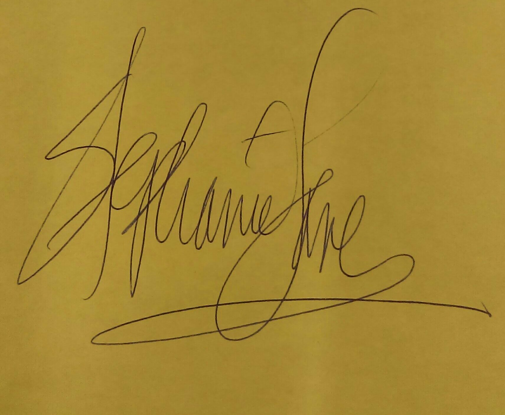Stephanie Lane's Signature