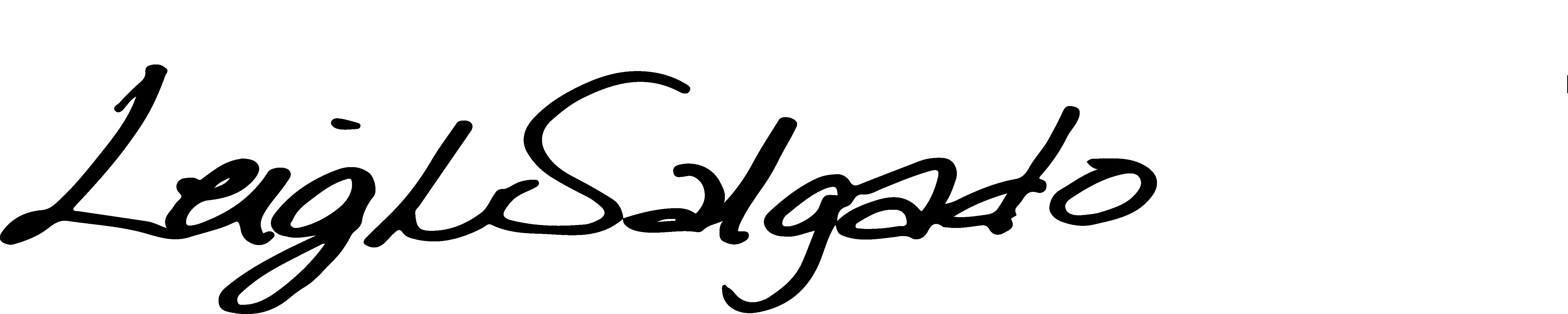 Leigh Salgado's Signature