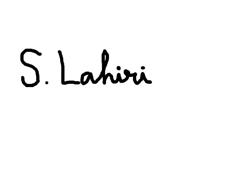 Shibamouli Lahiri's Signature