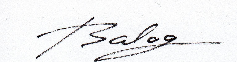STEFAN BALOG's Signature