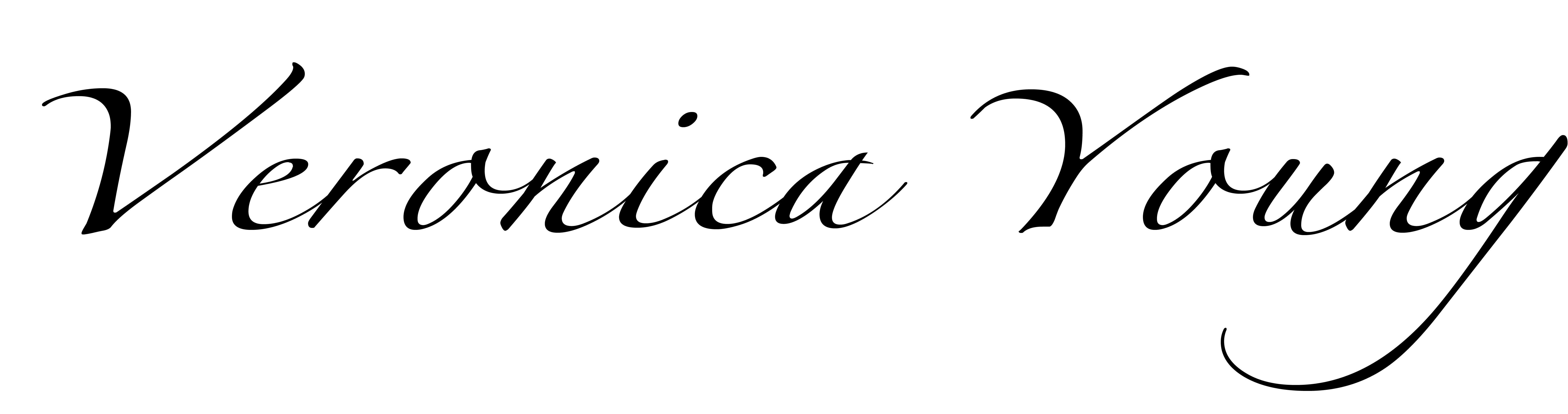 Veronica Young's Signature
