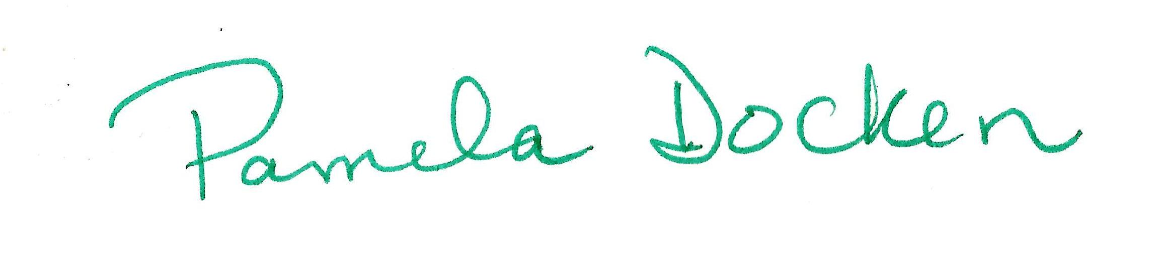 Pamela docken's Signature